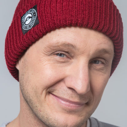 Beanie Fisherman red