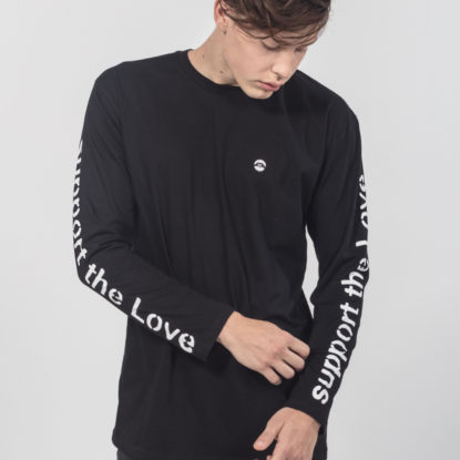 Men Longsleeve Support the Love sprayed