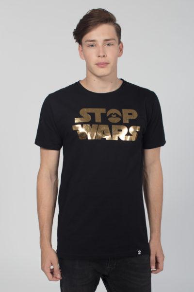 Men Artistic T-Shirt Stop Wars