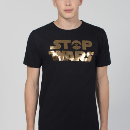 Men Artistic T-Shirt Stop Wars