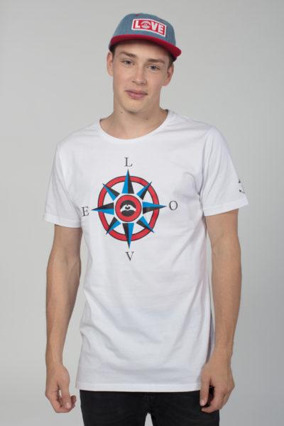 Men Artistic T-Shirt Compass