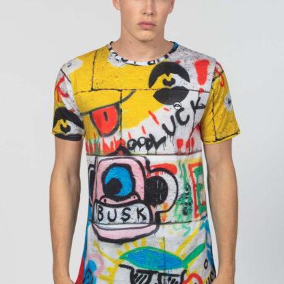 Men Artistic T-Shirt Busk