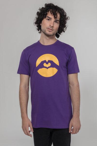 Men Classic Logo T-Shirt Violet