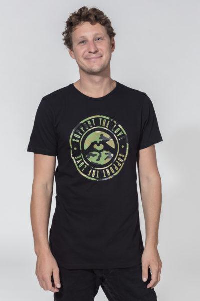 Men Artistic T-Shirt Stamped Camo