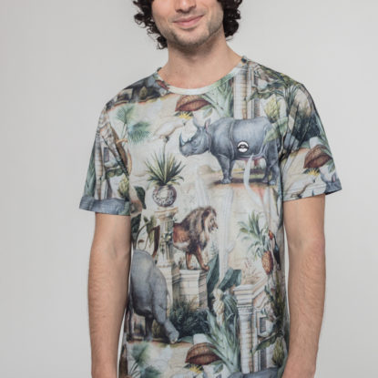 Men Artistic T-Shirt Safari