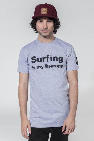 Men Therapy Series T-Shirt Surfing is my Therapy Melange