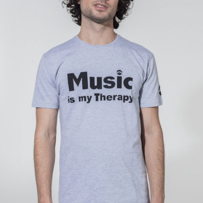 Men Therapy Series T-Shirt Music is my Therapy Melange