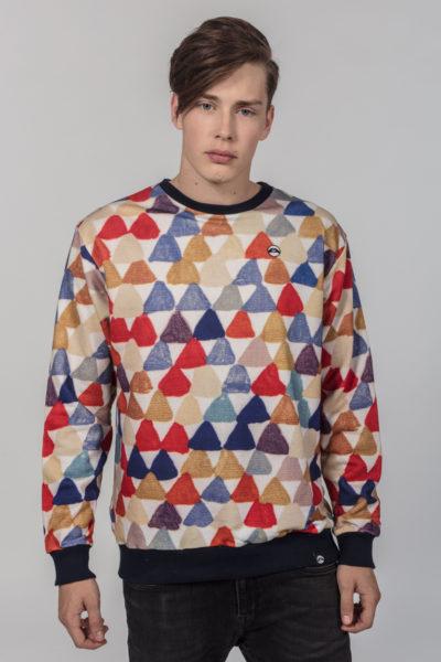 Men Artistic Sweater Triangle