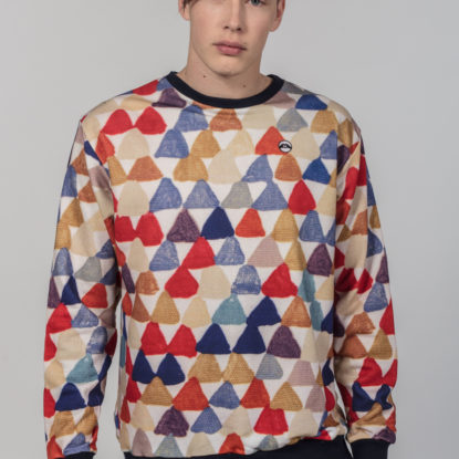 Men Artistic Sweater Triangle