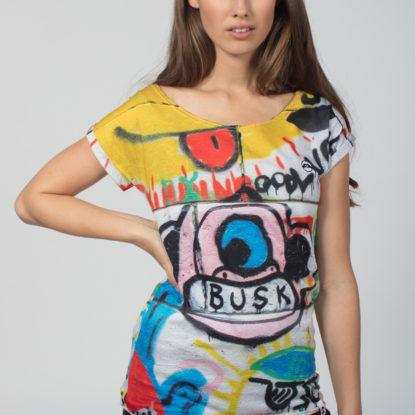 Women Artistic T-Shirt Busk