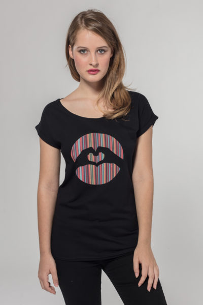 Women Special Logo T-shirt Happy Lines