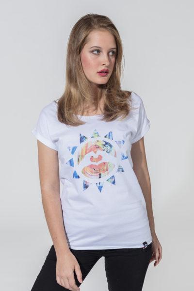 Women T-shirt Sunny Colour