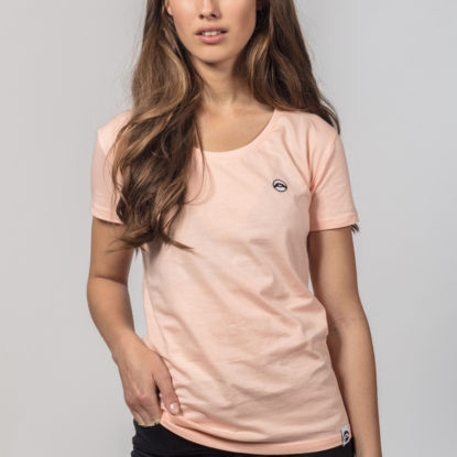 Women Artistic Shirt Love is More Peach