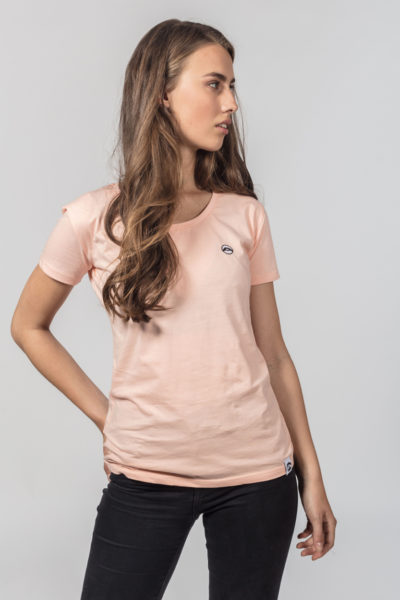 Women Artistic Shirt Love is More Peach 2